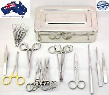 Veterinary Feline Spay Kit Cat Surgical Instruments Ovaries Removal Animal Kit