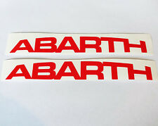2 x Red ABARTH Logo Vinyl Car Stickers Decal Fiat 500 Punto