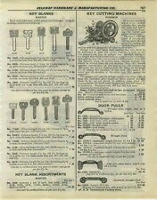1932 PAPER AD Russwin Key Cutting Machine