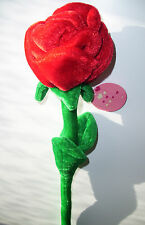 "LARGE ROSE WITH STEM FELT/POLYESTER MATERIAL 24"" LONG BNWT"