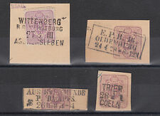 Germany, 4 diff 19th Century Railway Cancels on 5pf Postal Card Indicia