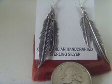 Ear Ring With Silver  Feathers .925 Sterling Silver - No Stone