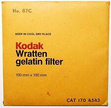 Kodak Wratten 87C Infrared 100 mm (4 inch) Gelatin Filter EXCELLENT