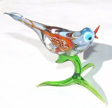 Lampwork Glass Art Murano Glass Bird Handmade Gift Collectible Figurine animals