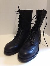 Biltrite Military Issue Black Leather Boots Steel Toe Size 7 R  Vintage Perfect