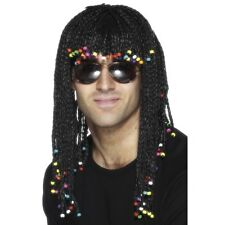 Mens Braided Wig Black Rasta Jamaican Fancy Dress Hawaiian Luau Marley Reggae