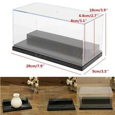 20cm Acrylic Display Case Plastic Box Dustproof Self-Assembly 2 Steps Show Case