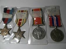 WW11 WAR MEDAL SET OF 4 SOUTH AFRICA FEW STARS PLUS SILVER MINT SAME NAME CANADA