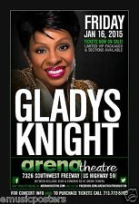 GLADYS KNIGHT 2015 HOUSTON CONCERT TOUR POSTER - R&B Soul Music Legend