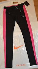 bnwt women's Nike Essential dri-fit tight fit black/pink leggings size S