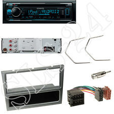Kenwood KDC300UV CD/USB Radio + Opel Meriva Combo Blende aluminium + ISO Adapter