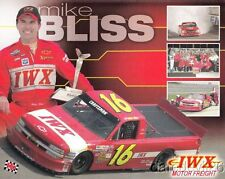 2002 Mike Bliss IWX Motor Freight Chevy Silverado NASCAR CTS postcard