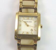 Michael Kors Stainless Steel Gold Tone and Horn Band Lady's Watch MK-4251 QR2