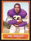 1963 TOPPS NFL FOOTBALL CARD #100 MEL TRIPLETT MINNESOTA VIKINGS