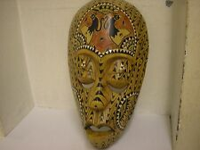 BELIEVED GARADU BALI MASK HAND CARVED TRIBAL MASK MOTHER OF PEARL NO2