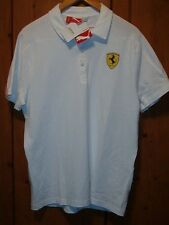 FERRARI SCUDERIA AUTHENTIC PUMA POLO SHIRT SNOW WHITE SIZE LARGE NWTG FREE S/H