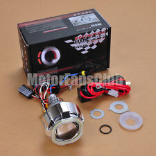 "2.5"" Latest Dual LED Angel Eye HID BI-Xenon Projector Lens Headlight Kit Halo #2"