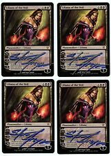 ***4x Liliana of the Veil Signed*** MTG Innistrad -Kid Icarus-