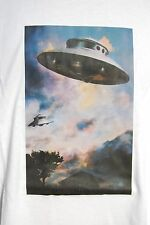 graphic retro art  vintage mens cotton t shirt DBL ADAMSKI UFOS
