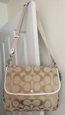NWOT, Rare Khaki Coach Kyra Signature Crossbody / Messenger/Shoulder Bag F16557