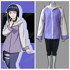 Naruto Anime cosplay Hyuga Hinata 2nd Costume Uniform Halloween