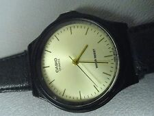 "Casio classic water resistant ladies watch 7 1/4"" leather band good condition A+"