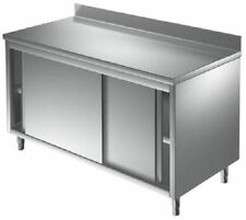 meuble inox portes coulissantes 1600 x 600 x 900 mm( table armoire inox )