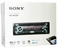 Sony Bluetooth CD MP3 Player USB Aux Pandora App Remote Car Stereo MEX-XB100BT