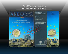 "ANDORRA 2 EURO 2014 (2016) ""Andorra joined the Council of Europe"" Comm. coin UNC"