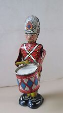 "RARE vintage Louis Marx Litho Wind-Up clockwork ""George The Drummer Boy"" Tin Toy"