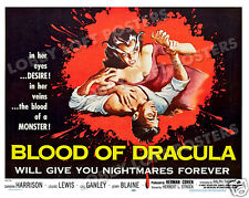 BLOOD OF DRACULA LOBBY CARD POSTER HS 1957 SANDRA HARRISON LOUISE LEWIS