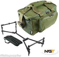 NGT NOMADIC ROD POD FULLY ADJUSTABLE COMPACT POD + CARP FISHING CARRYALL BAG 537