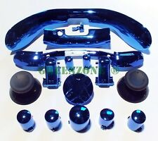 Xbox 360 Chrome Blue Full Set D-pad, ABXY, Triggers, Bumper, Mic Trim Mod Kit