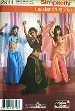 Simplicity Misses Belly Dancer Bollywood Costume Top Skirt Pattern 2941 UC 6-12