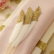 PASTEL PERFECTION - GOLD DIPPED  FEATHERS