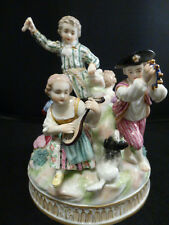 ANTIQUE HERTWIG & CO. GERMANY GROUP  PORCELAIN FIGURINE~BEAUTIFUL! MEISSEN STYLE