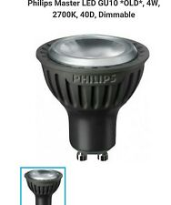 6 Philips 4W Master Dimmable GU10 4W warm white