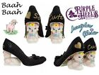 Irregular Choice Limited Edition Baah Baah Black Lamb Heel UK4-6/37-39