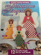 HOUSE OF WHITE BIRCHES 12 BIRTHSTONE ANGELS PLASTIC CANVAS PATTERN LEAFLET