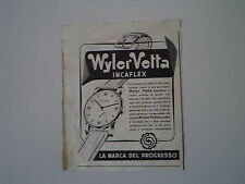 advertising Pubblicità 1949 WYLER VETTA INCAFLEX