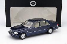 Mercedes-Benz S500 (W140) Baujahr 1994-98 azurit blau 1:18 Norev