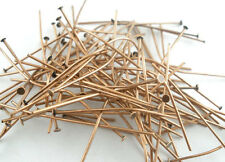 300 PCs Copper Tone Head Pins Findings 50x0.7mm(21 gauge)
