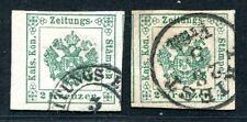 ÖSTERREICH ZEITUNGSMARKEN 1853 1I,II gest LUXUS (E1203