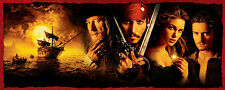 PIRATES OF THE CARRIBEAN BLACK PEARL 43x107cm LARGE WALL ART POSTER PRINT