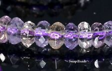 SASSY AMETRINE GEMSTONE GRADE AA MICRO FACETED RONDELLE 5X3MM LOOSE BEADS 15.5""
