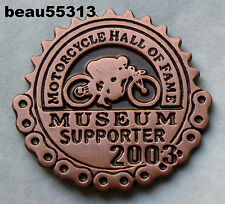 """2003 AMA AMERICAN MOTORCYCLE ASSOCIATION """"MOTORCYCLE HALL OF FAME MUSEUM"""" PIN"""