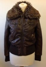 Jacket size 10 From MISO Faux Leather, faux fur Amazing clean condition BARGAIN