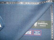 DORMEUIL 92% Wool, 5% MOHAIR, 3% CASHMERE SUITING FABRIC MADE IN ENGLAND -3.33 m