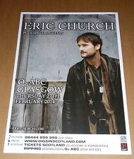 ERIC CHURCH - UK live music show tour concert / gig poster - feb 2014