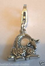 clip on GIRAFFE CHARM PENDANT sterling silver charms Animal clasp Sab@
